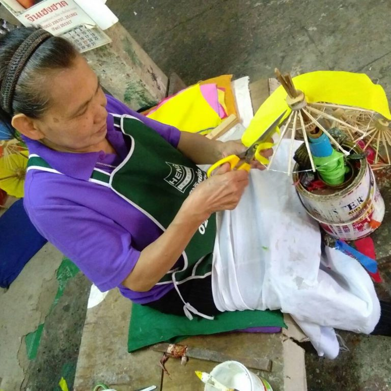 DIY Bamboo Umbrella & Fan by Sa Paper & Umbrella Handicraft Center