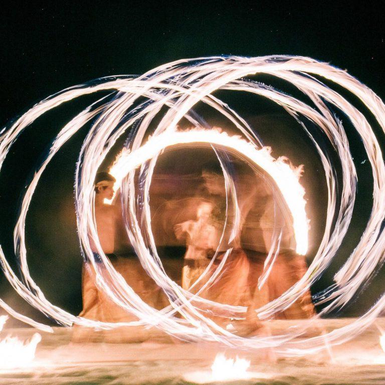 Sunset fire show by Samui Circus Studio