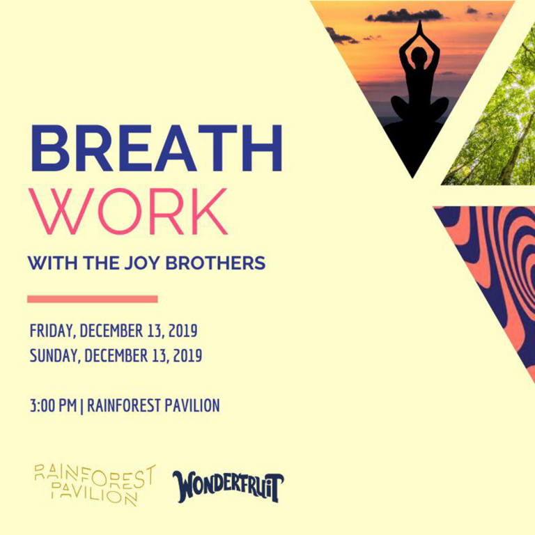 Breath work with the Joy Brothers